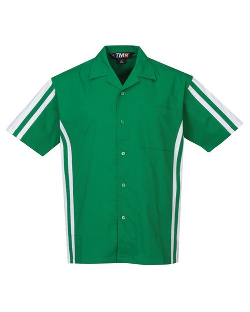 Tri-Mountain Racewear 930 Men's Cotton/Poly 60/40 SS Woven Shirt