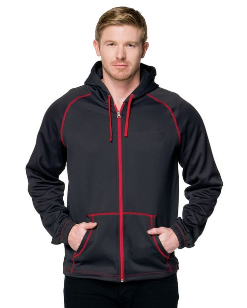Tri-Mountain Racewear F7173 Full Zip Hoody Featuring Exclusive Carbon Fiber Pattern