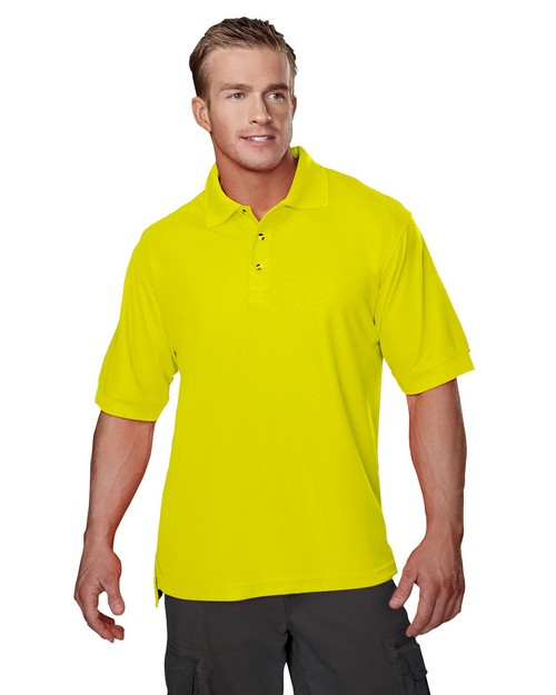Tri-Mountain 100 Safeguard Poly Safety pique golf shirt