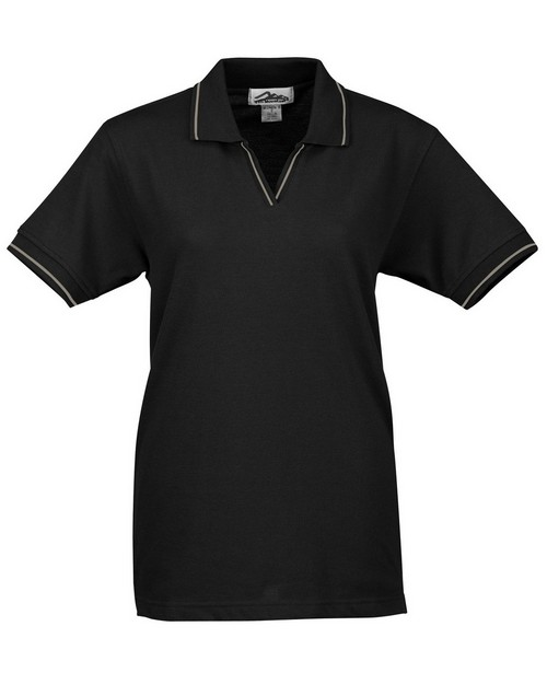 Tri-Mountain 152 Women's stain resistant johnny collar pique golf shirt