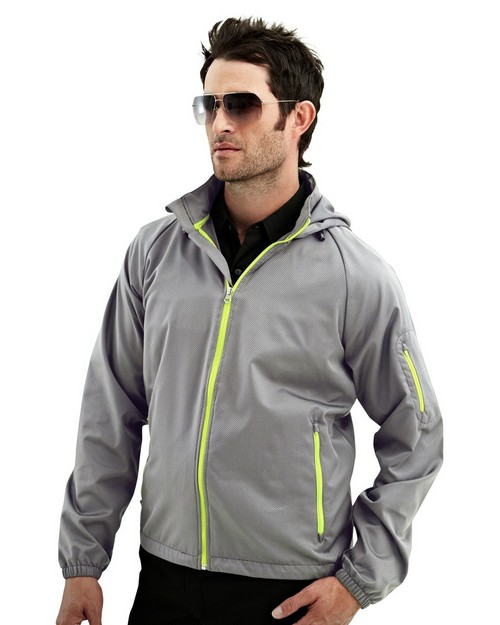 Tri-Mountain Racewear 1730 CF 1 Rib Stop Water Resistant Long Sleeve Hoodly Jacket