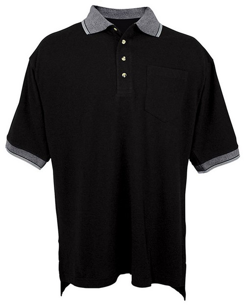 Tri-Mountain 179 pique pocketed golf shirt