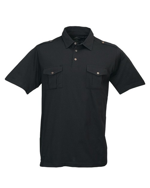 Tri-Mountain 187 Men's Knit Polo Shirt w/ Epaulette