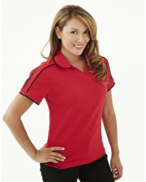 Tri-Mountain Racewear 204 Tach Women Poly UltraCool Mesh Golf Shirt