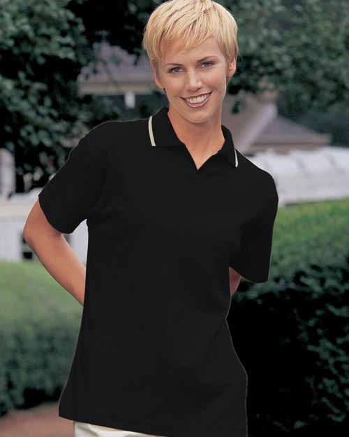 Tri-Mountain 262 Women's drop needle johnny collar golf shirt