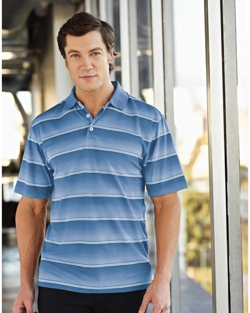 Tri-Mountain Gold 408 Anderson Polyester Knit Polo Shirts