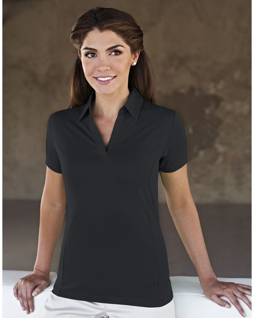 Tri-Mountain Gold 436 Geneva Polyester Spandex Knit Polo Shirt