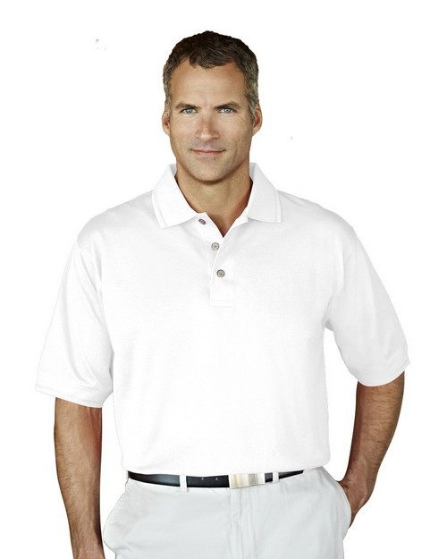Tri-Mountain Gold 450 Arlington Double Mercerized Cotton Pique Golf Shirt