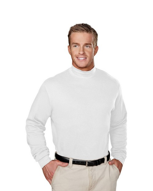 Tri-Mountain 620 Graduate Cotton Interlock Mock Turtleneck