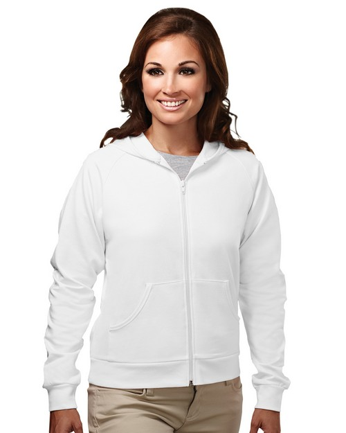 Tri-Mountain 639 Women's cotton/poly full zip hooded sweatshirt