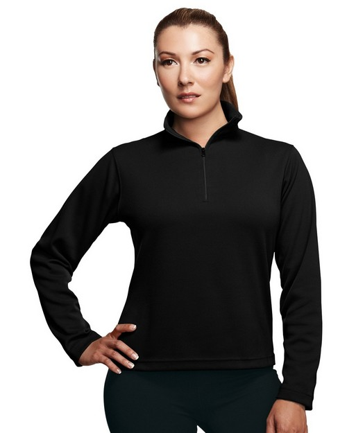 Tri-Mountain Performance 652 Mission Poly UltraCool Pique 1/4 zip Pullover Shirt