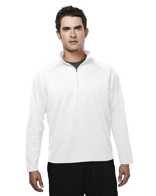 Tri-Mountain Performance 655 Milestone Poly UltraCool Pique 1/4 zip Pullover Shirt