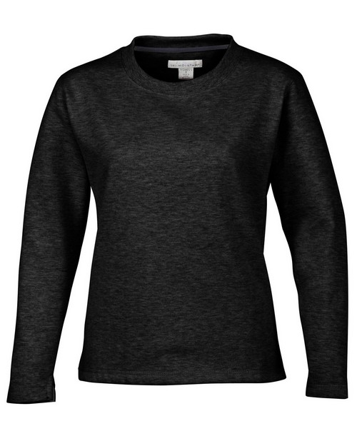 Tri-Mountain 672 Women's cotton/poly sueded finish crewneck sweatshirt