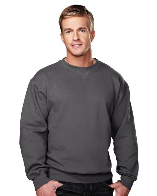 Tri-Mountain 680 Aspect Cotton Poly Sueded Finish Crew Neck Sweatshirt