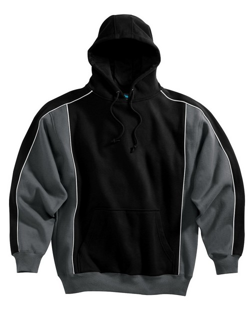Tri-Mountain 686 Men 80/20 premium hooded sweatshirt with hidden Velcro pocket
