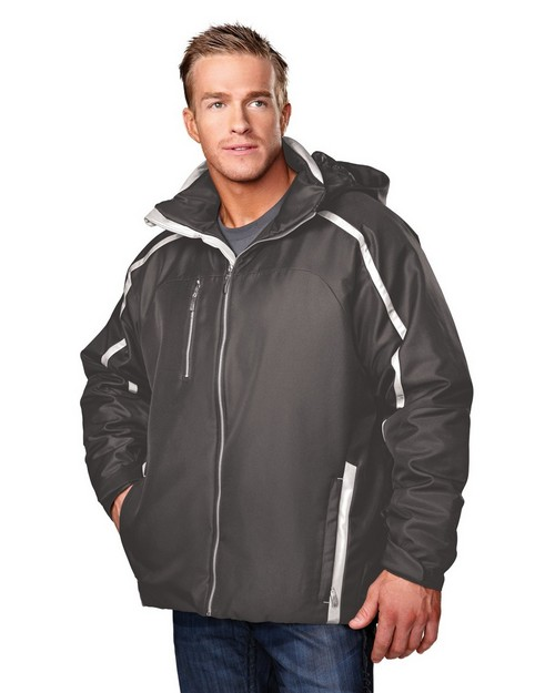 Tri-Mountain 6930 Ridgeline Poly Twill Jacket with Quilted Brushed Tricot Lining