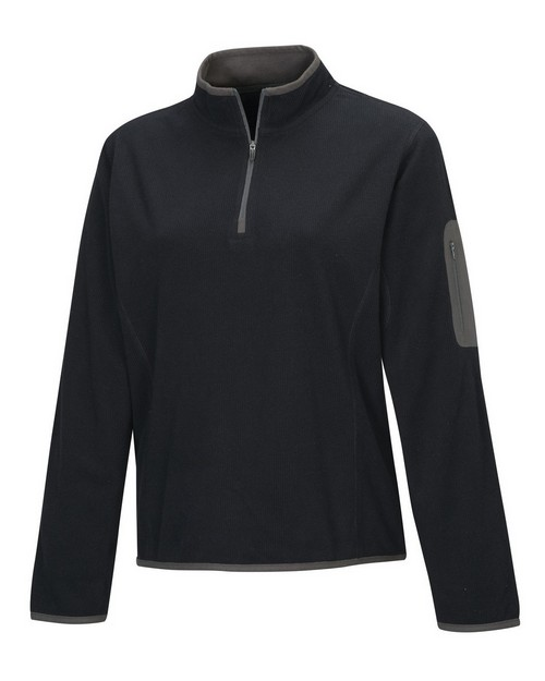 Tri-Mountain 7046 Women's 100% Polyester fleece 1/4 zipper pullover
