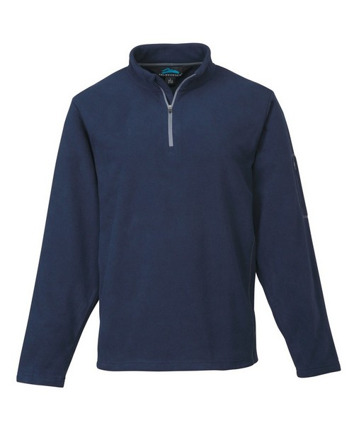 Tri-Mountain 7115 Men's 100% Poly Micro Fleece quarter ziper pullover