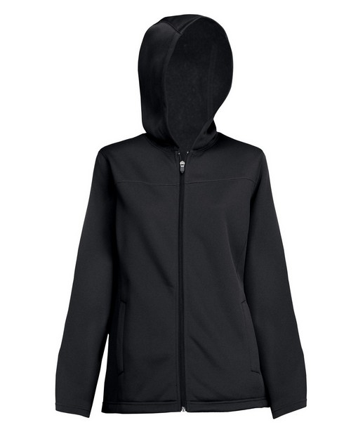 Tri-Mountain 7336 Women's 100% polyester mesh fleece hooded jacket