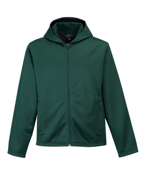 Tri-Mountain 7338 Men's 100% polyester mesh fleece hooded jacket