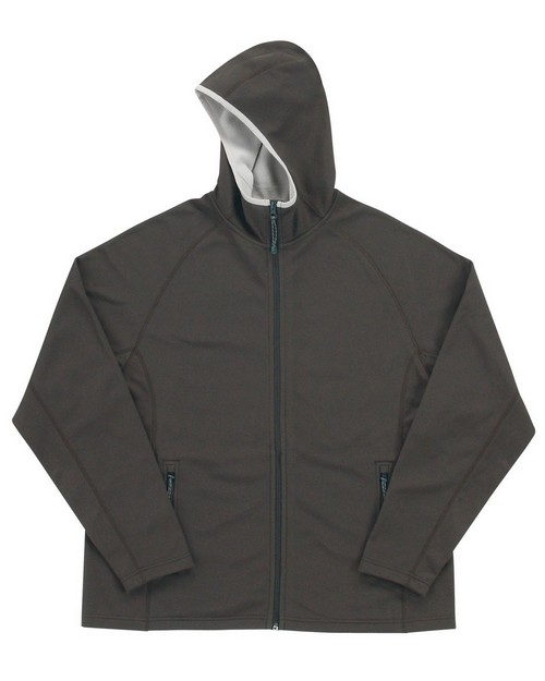 Tri-Mountain 7380 Men's bonded fleece hooded jacket