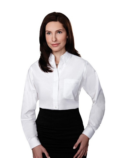 Tri-Mountain 742 Women Echo Stain Resistant Long Sleeve Oxford Shirt