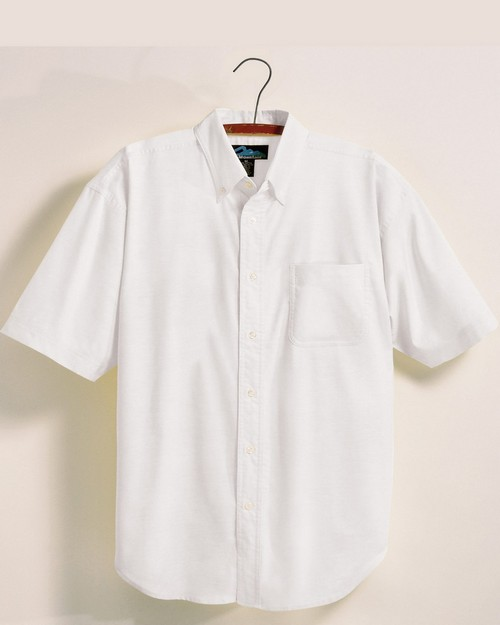 Tri-Mountain 748 Men's 60/40 stain resistant short sleeve oxford shirt