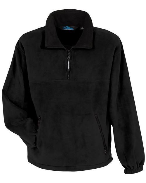 Tri-Mountain 7550 Panda fleece 1/4 zip pullover with trim