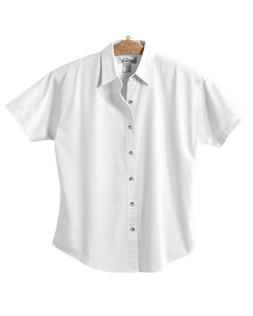 Tri-Mountain 761 Women's 60/40 stain resistant short sleeve twill shirt