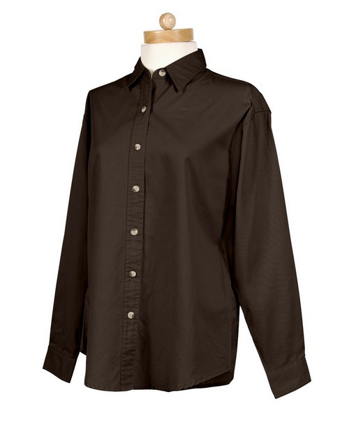 Tri-Mountain 762 Women's 60/40 stain resistant long sleeve twill shirt