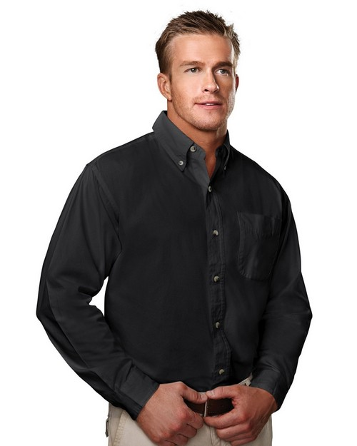 Tri-Mountain 790 Regency Cotton Long Sleeve Peached Twill Shirt