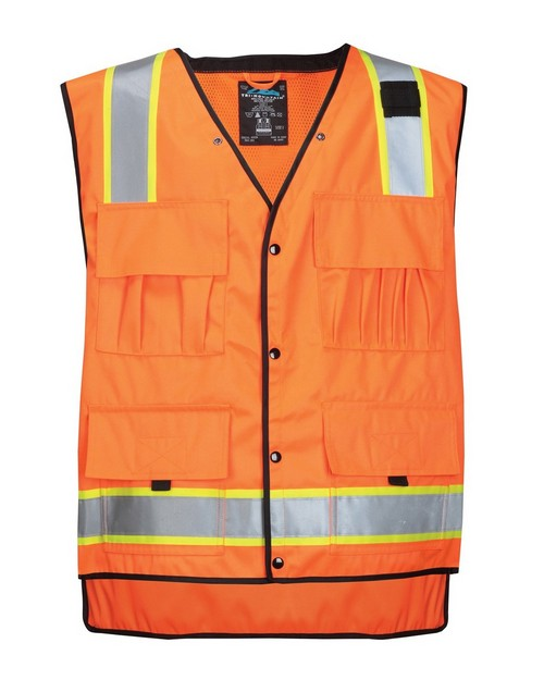 Tri-Mountain 8435 Level Water Resistant Heavy Twill Safety Vest