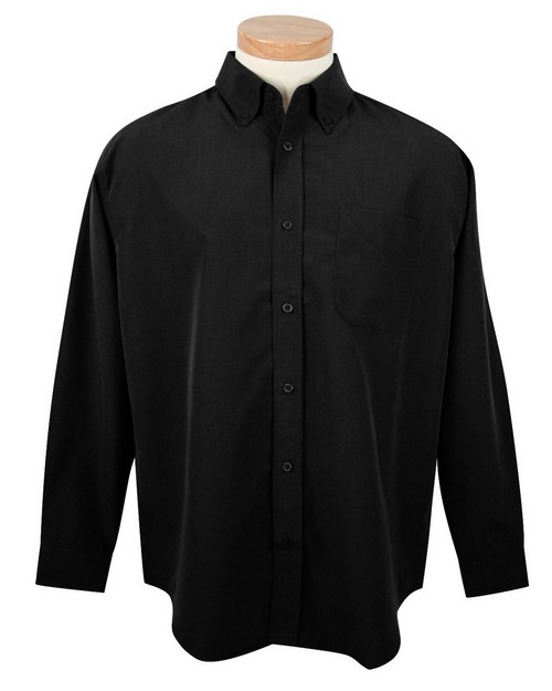 Tri-Mountain 860 Men's rayon/poly long sleeve shirt with mini-houndstooth pattern