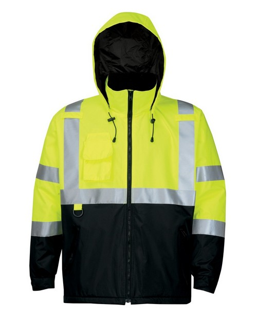 Tri-Mountain 8831 Men's 100% Polyester Water-Resistant Fleece-lined Safety Jacket