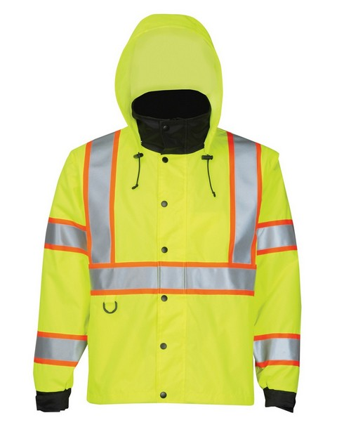 Tri-Mountain 8832 Men's 100% Polyester Water-Resistant Safety 3-IN-1 Jacket