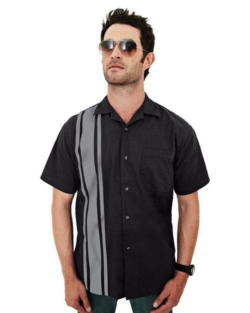 Tri-Mountain Racewear 909 Cobra Short Sleeve Twill Camp Shirt