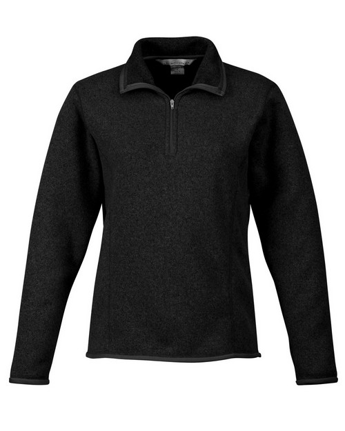 Tri-Mountain 932 Women's 100% Polyester 1/4 Zip Sweater Knit LS Fleece Shirt