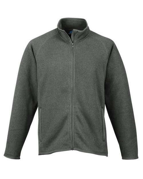 Tri-Mountain 938 Men's 100% Polyester Full Zip Sweater Knit LS Fleece