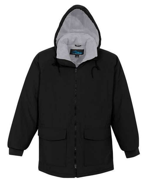 Tri-Mountain 9900 Nylon hooded parka with fleece lining