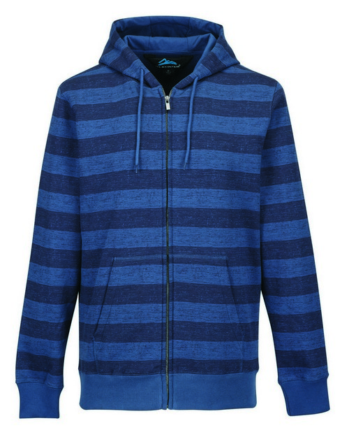 Tri-Mountain F678 Men's 60% Cotton 40% Polyester Full Zip Hooded Jacket With All Over Tonal Print