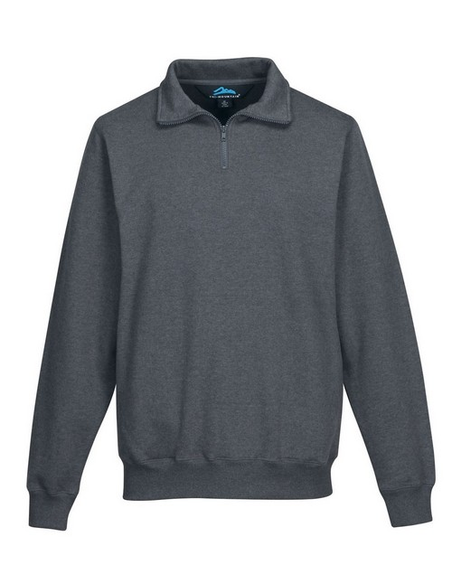 Tri-Mountain F681 Men's suede finish 1/4 zip knit pullover