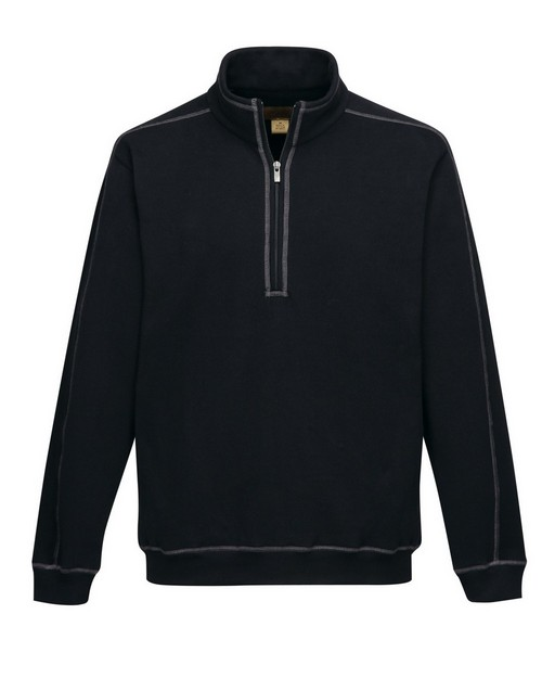 Tri-Mountain Gold F692 Men's 60% Cotton/40% Polyester 1/4 zip pullover