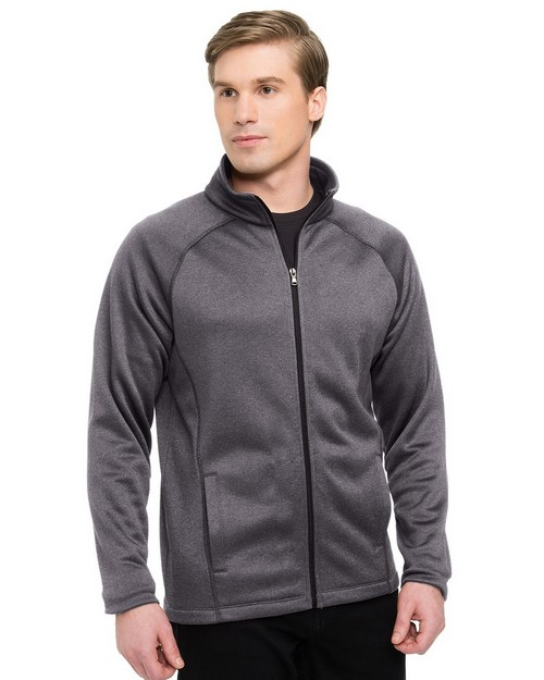 Tri-Mountain Performance F7370 Men's 100% Polyester Full Zip Jacket