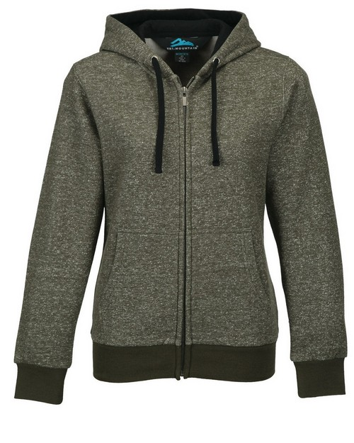 Tri-Mountain FL676 Women's 60/40 Cotton/Polyester hooded full zip sweatshirt