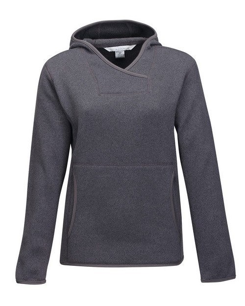 Tri-Mountain FL931 Women's 100% Polyester Hooded Sweater Knit Pullover Fleece