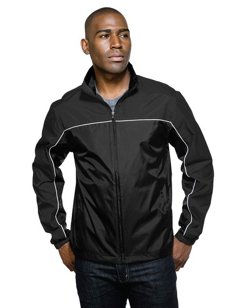 Tri-Mountain Racewear J1908 Downshifte Light Weight Jacket with Windproof/Water Resistant Nylon