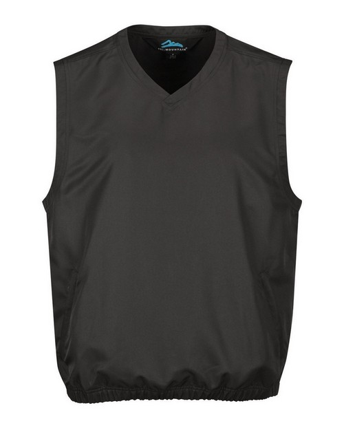 Tri-Mountain J2612 Men's 100% Polyester Micro V-Neck Vest With 2 Zip Slash Pockets & Elastic Bottom