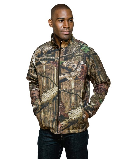 Tri-Mountain J6380C Quest Camo Full Zip Bonded Soft Shell Jacket