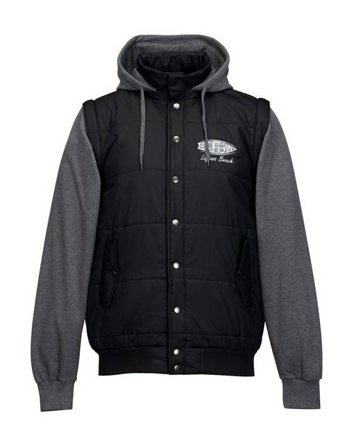Tri-Mountain J8150 Men's Quilted Hoody Convertible jacket