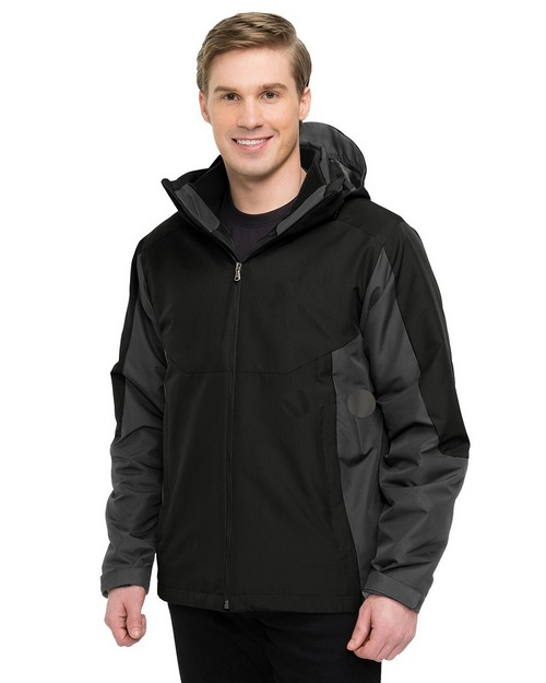 Tri-Mountain J8890 Men's 100% Polyester 3-In-1 Jacket